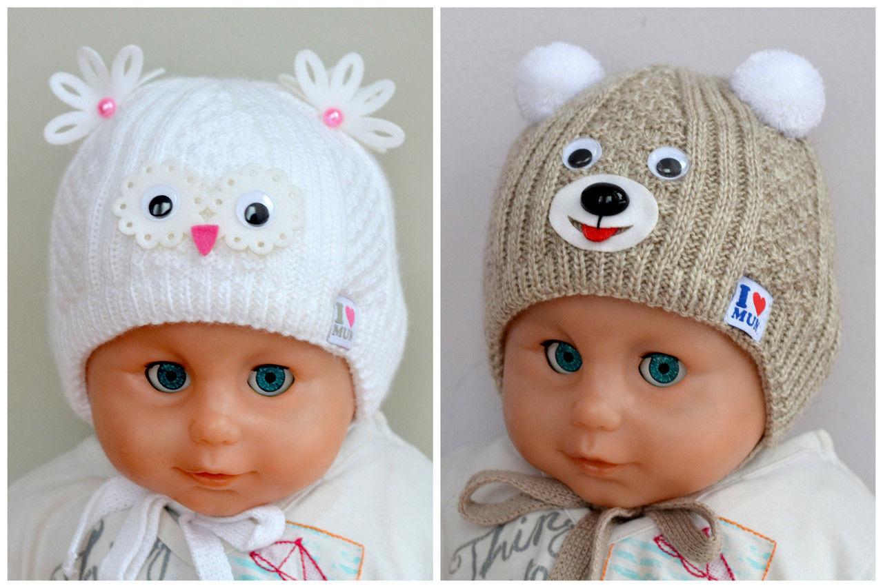 Чепчик спицами для малыша 5-7 месяцев - мастер класс 66